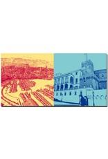 ART-DOMINO® BY SABINE WELZ Monaco - Port Hercule + Fürstenpalast