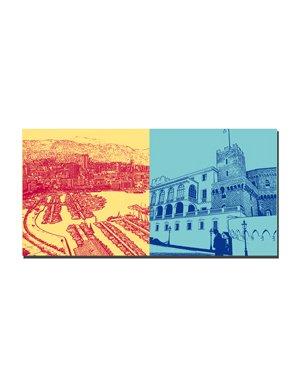 ART-DOMINO® by SABINE WELZ Monaco - Port Hercule + Prince's Palace