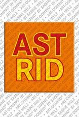 ART-DOMINO® by SABINE WELZ Astrid – Magnet mit dem Vornamen Astrid