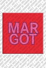 ART-DOMINO® by SABINE WELZ Margot – Magnet mit dem Vornamen Margot