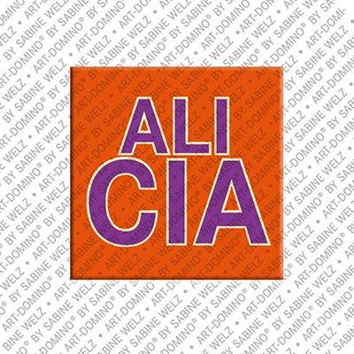 ART-DOMINO® by SABINE WELZ Alicia – Magnet mit dem Vornamen Alicia