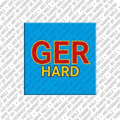 ART-DOMINO® by SABINE WELZ Gerhard – Magnet mit dem Vornamen Gerhard