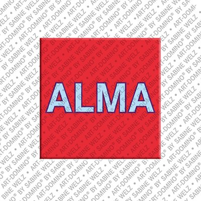 ART-DOMINO® by SABINE WELZ Alma – Aimant avec le nom Alma