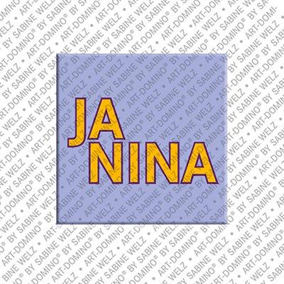 ART-DOMINO® by SABINE WELZ Janina – Magnet mit dem Vornamen Janina