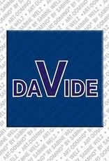 ART-DOMINO® by SABINE WELZ Davide – Magnet mit dem Vornamen Davide