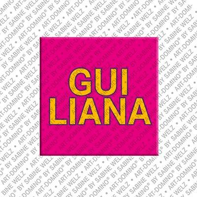 ART-DOMINO® by SABINE WELZ Guiliana – Magnet mit dem Vornamen Guiliana