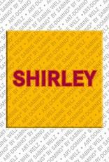 ART-DOMINO® by SABINE WELZ Shirley – Magnet mit dem Vornamen Shirley