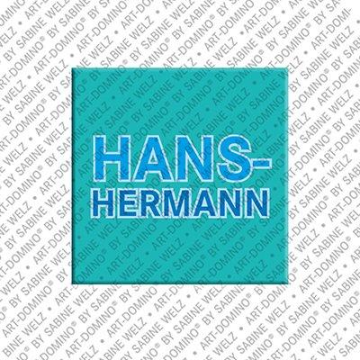 ART-DOMINO® by SABINE WELZ Hans-Hermann – Magnet mit dem Vornamen Hans-Hermann