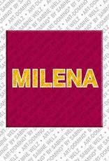 ART-DOMINO® by SABINE WELZ Milena – Magnet mit dem Vornamen Milena
