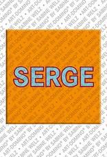 ART-DOMINO® by SABINE WELZ Serge – Magnet mit dem Vornamen Serge