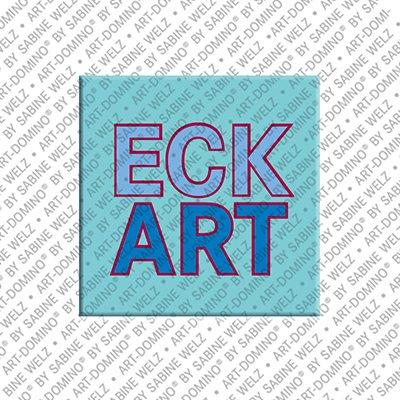 ART-DOMINO® by SABINE WELZ Eckart – Magnet mit dem Vornamen Eckart