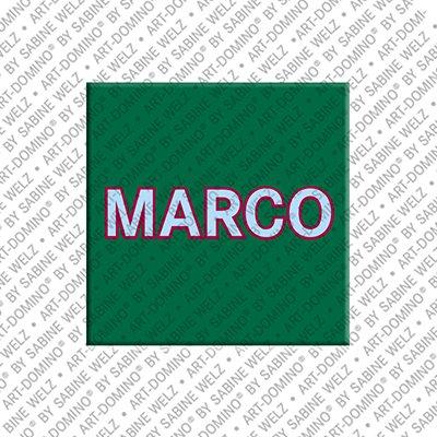 ART-DOMINO® by SABINE WELZ Marco – Magnet mit dem Vornamen Marco