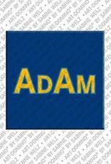 ART-DOMINO® BY SABINE WELZ Adam – Magnet mit dem Vornamen Adam