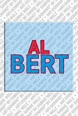 ART-DOMINO® by SABINE WELZ Albert – Magnet mit dem Vornamen Albert