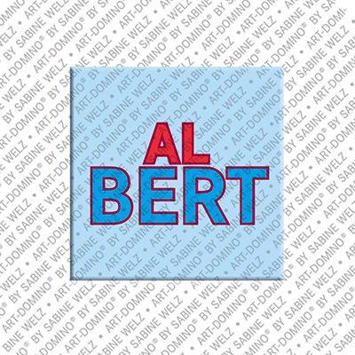 ART-DOMINO® by SABINE WELZ Albert – Aimant avec le nom Albert
