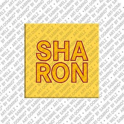 ART-DOMINO® by SABINE WELZ Sharon – Magnet mit dem Vornamen Sharon