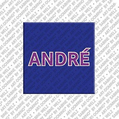 ART-DOMINO® by SABINE WELZ André – Magnet mit dem Vornamen André