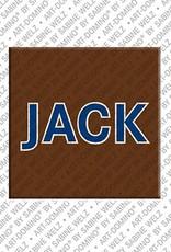 ART-DOMINO® by SABINE WELZ Jack – Magnet mit dem Vornamen Jack