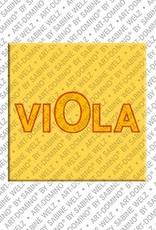 ART-DOMINO® by SABINE WELZ Viola – Magnet mit dem Vornamen Viola