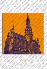 ART-DOMINO® by SABINE WELZ Brüssel – Rathaus Grand Place