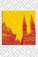ART-DOMINO® by SABINE WELZ Bremen - Rathaus + S. Petri Dom