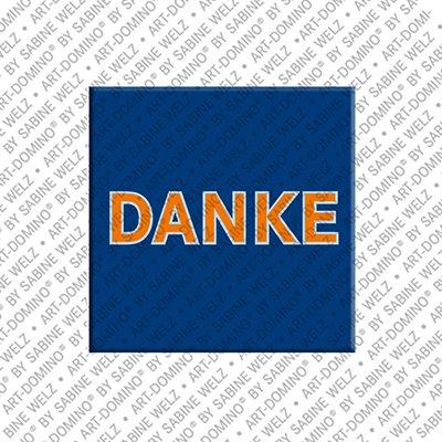ART-DOMINO® by SABINE WELZ Danke – Magnet mit Danke
