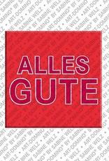 ART-DOMINO® by SABINE WELZ Alles Gute – Aimant avec Alles Gute