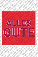 ART-DOMINO® BY SABINE WELZ Alles Gute – Magnet with Alles Gute