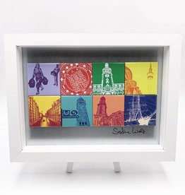 ART-DOMINO® by SABINE WELZ MAGNETIC PICTURE HAMBURG MOTIF MIX 8-01