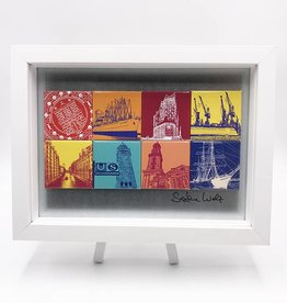 ART-DOMINO® by SABINE WELZ MAGNETIC PICTURE HAMBURG MOTIF MIX 8-02