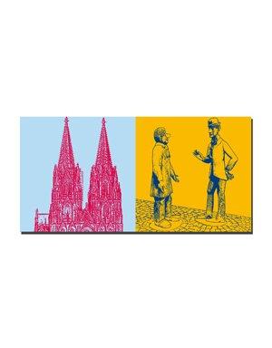 ART-DOMINO® BY SABINE WELZ Köln - Kölner Dom + Tünnes und Schäl