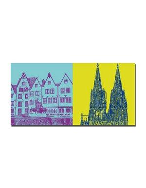 ART-DOMINO® BY SABINE WELZ Köln - Martinswinkel + Kölner Dom