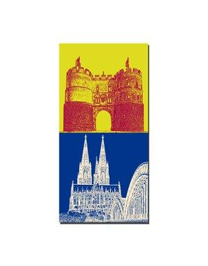 ART-DOMINO® BY SABINE WELZ Köln - Hahnentor + Kölner Dom
