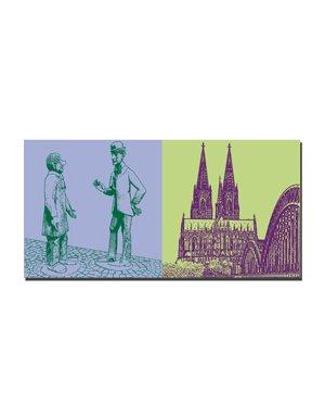 ART-DOMINO® BY SABINE WELZ Köln - Tünnes und Schäl + Kölner Dom