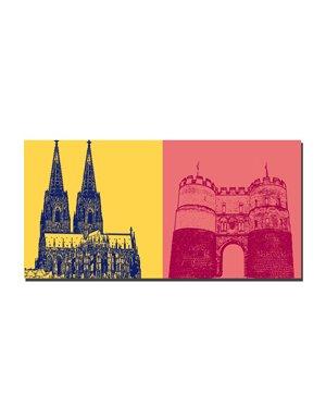 ART-DOMINO® BY SABINE WELZ Köln - Kölner Dom + Hahnentor
