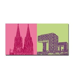 ART-DOMINO® by SABINE WELZ IMAGE SUR TOILE - COLOGNE - 2120
