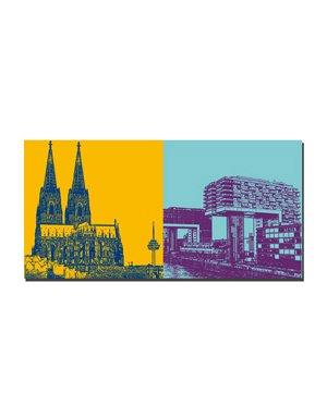 ART-DOMINO® BY SABINE WELZ Köln - Kölner Dom + Kranbauten