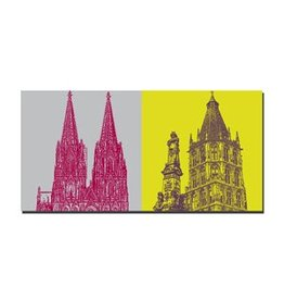 ART-DOMINO® by SABINE WELZ IMAGE SUR TOILE - COLOGNE - 2124