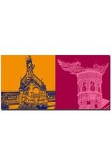 ART-DOMINO® BY SABINE WELZ Köln - Heinzelmännchenbrunnen + Stadtmuseum