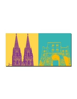 ART-DOMINO® BY SABINE WELZ Köln - Eigelsteintor + Kölner Dom