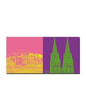 ART-DOMINO® BY SABINE WELZ Köln - Lanxess Arena + Kölner Dom