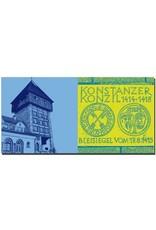 ART-DOMINO® BY SABINE WELZ Konstanz - Rheintorturm  + Konzil Bodenplatte