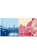 ART-DOMINO® BY SABINE WELZ Konstanz - Alte Rheinbrücke + Fischmarkt