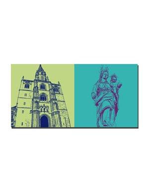 ART-DOMINO® BY SABINE WELZ Konstanz - Münster + Marienfigur