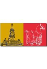 ART-DOMINO® BY SABINE WELZ Konstanz - Kaiserbrunnen + Kaiserbrunnen-Pferd