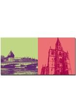 ART-DOMINO® BY SABINE WELZ Konstanz - Rheinbrücke mit Altstadt + Münster