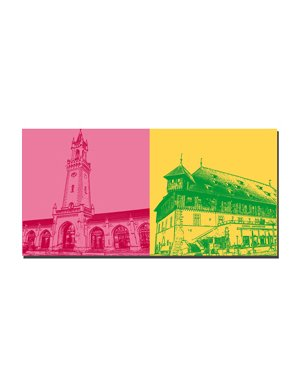 ART-DOMINO® by SABINE WELZ Konstanz - Bahnhof + Konzil