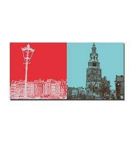 ART-DOMINO® BY SABINE WELZ LEINWANDBILD - AMSTERDAM - 4122