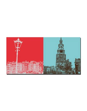 "ART-DOMINO® BY SABINE WELZ Amsterdam – ""Skyline"":-) + Oude Kerk"