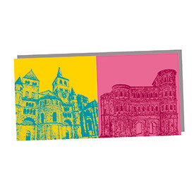 ART-DOMINO® by SABINE WELZ Trier - Dom St. Petrus und Porta Nigra